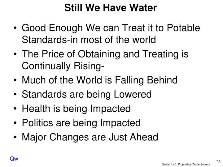 Still We Have Water