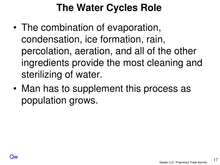 The Water Cycles Role