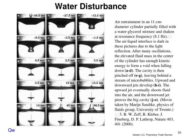 Water Disturbance