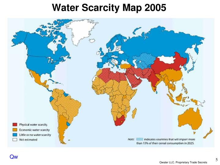 Water Scarcity Map 2005