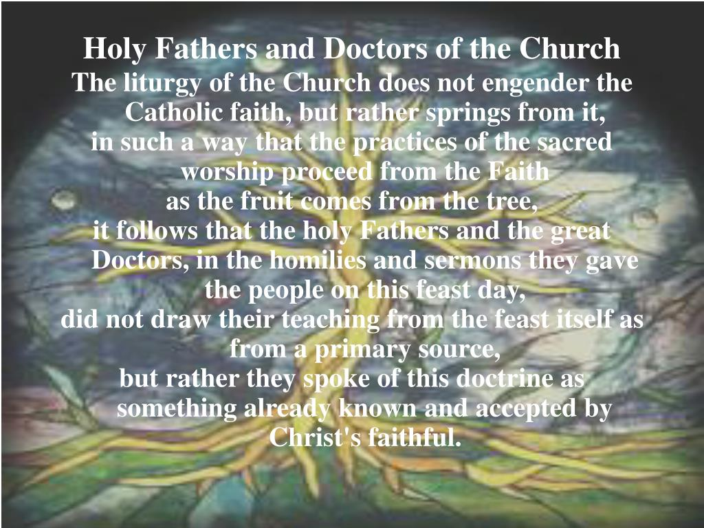 Holy Fathers and Doctors of the Church