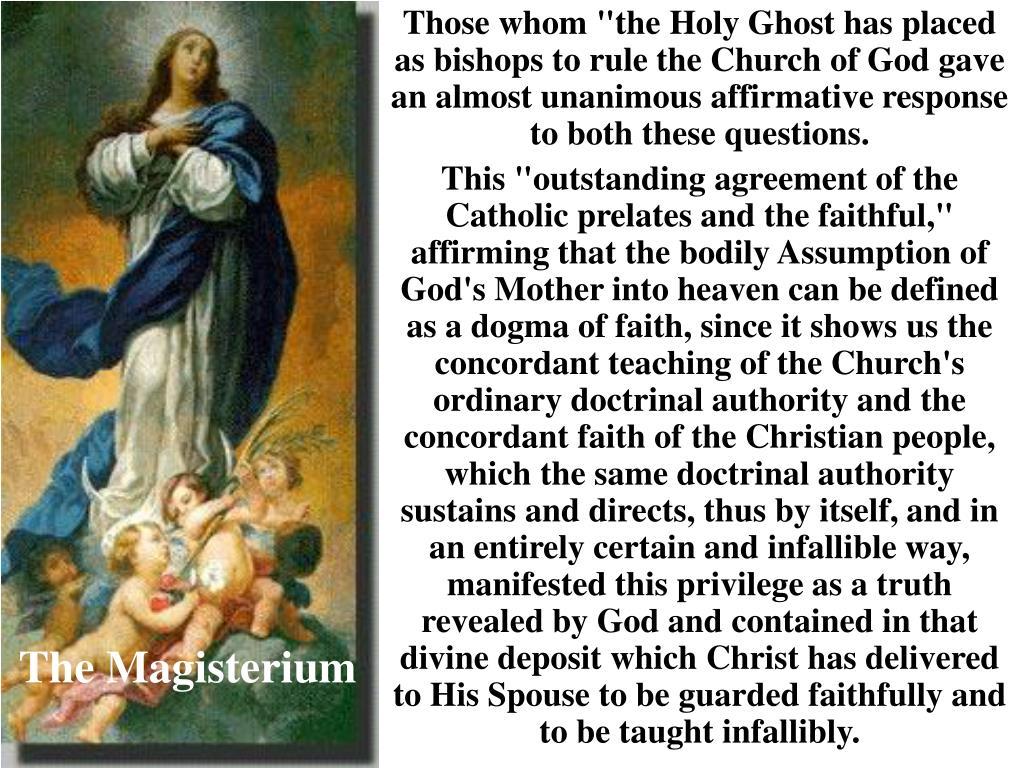 The Magisterium