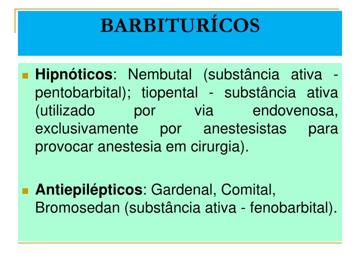 BARBITURÍCOS