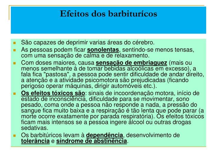 Efeitos dos barbiturícos