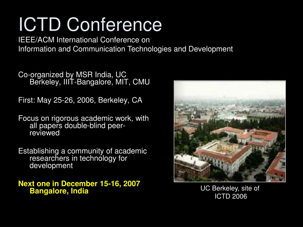 ICTD Conference