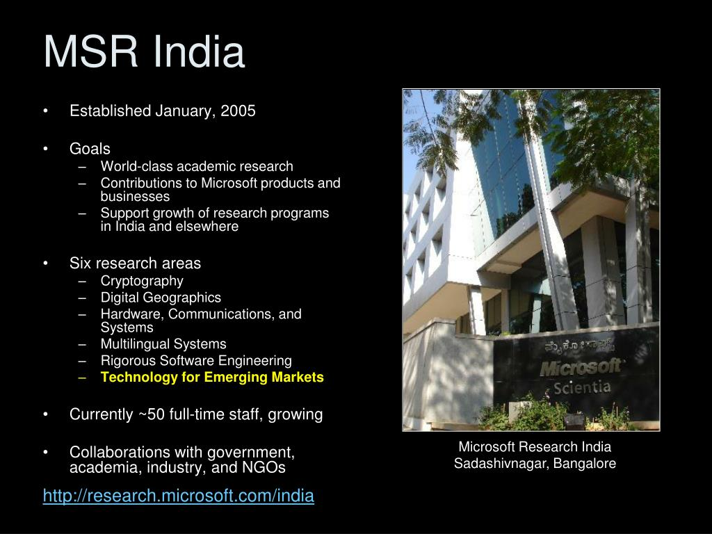 MSR India