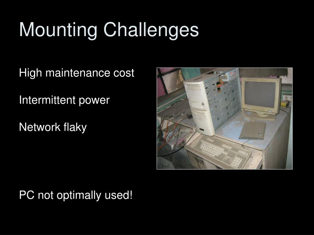 Mounting Challenges