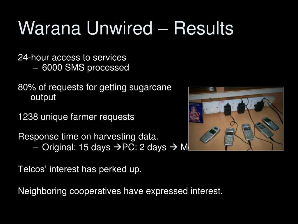 Warana Unwired – Results