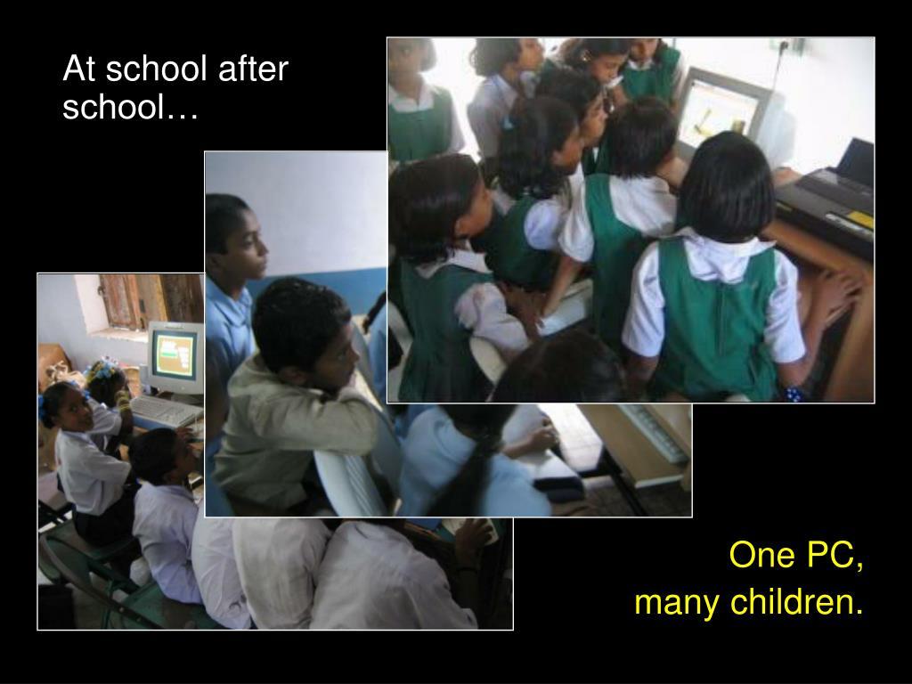 At school after school…