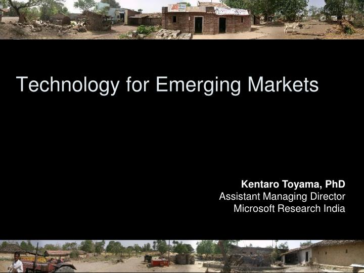 Technology for emerging markets l.jpg