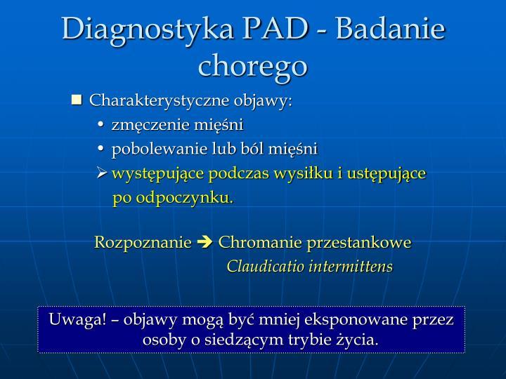 Diagnostyka PAD - Badanie chorego