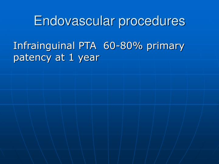 Endovascular procedures