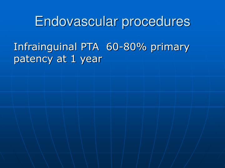 Endovascular procedures