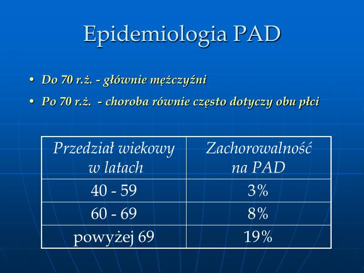 Epidemiologia PAD