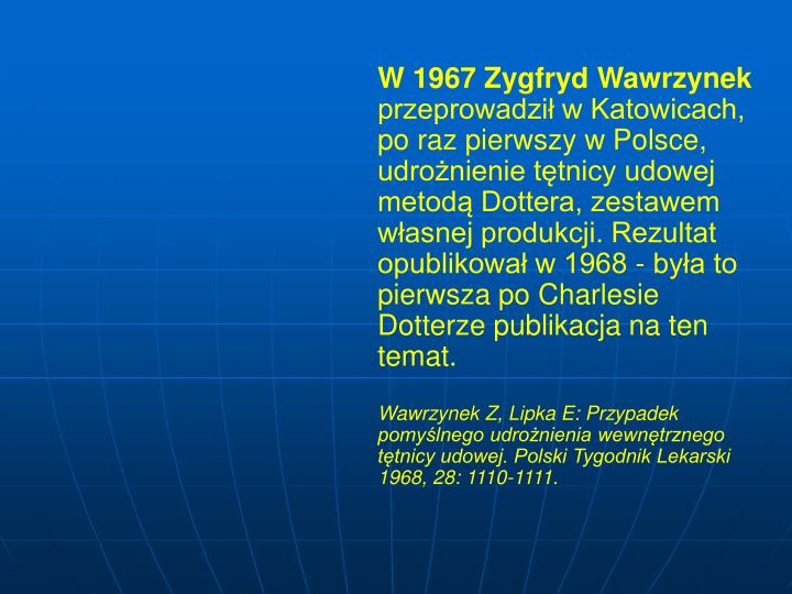 W 1967 Zygfryd Wawrzynek