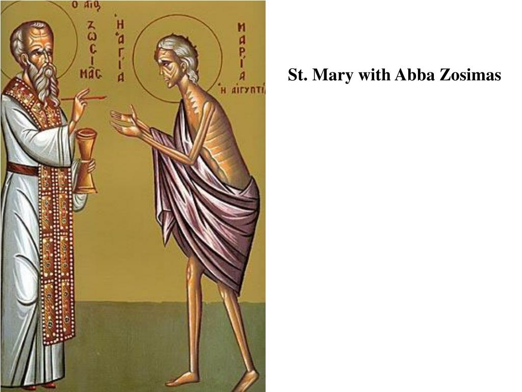 St. Mary with Abba Zosimas