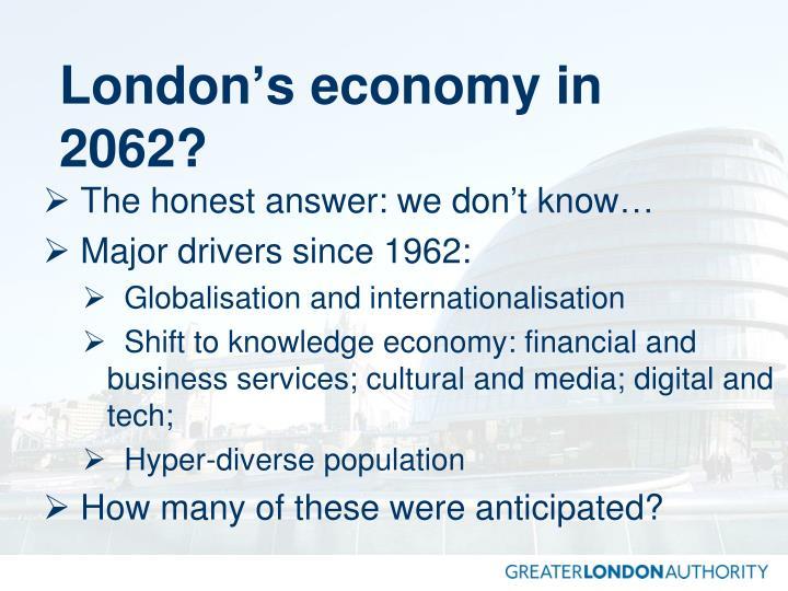 London's economy in 2062?
