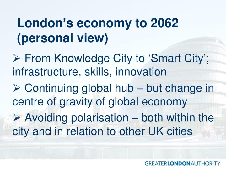 London's economy to 2062 (personal view)