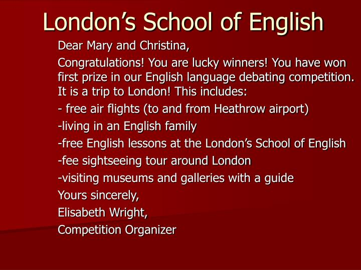 London's School of English