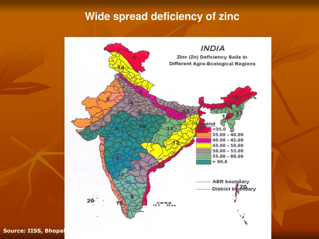 Wide spread deficiency of zinc