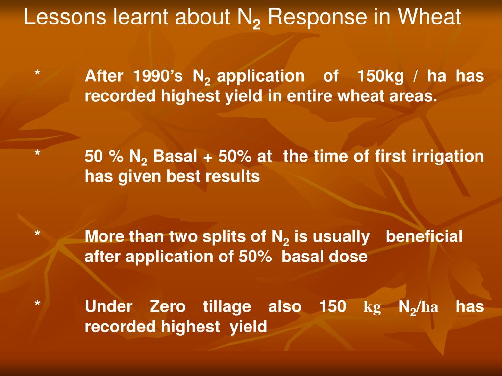 Lessons learnt about N