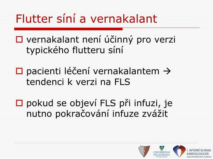 Flutter síní a vernakalant
