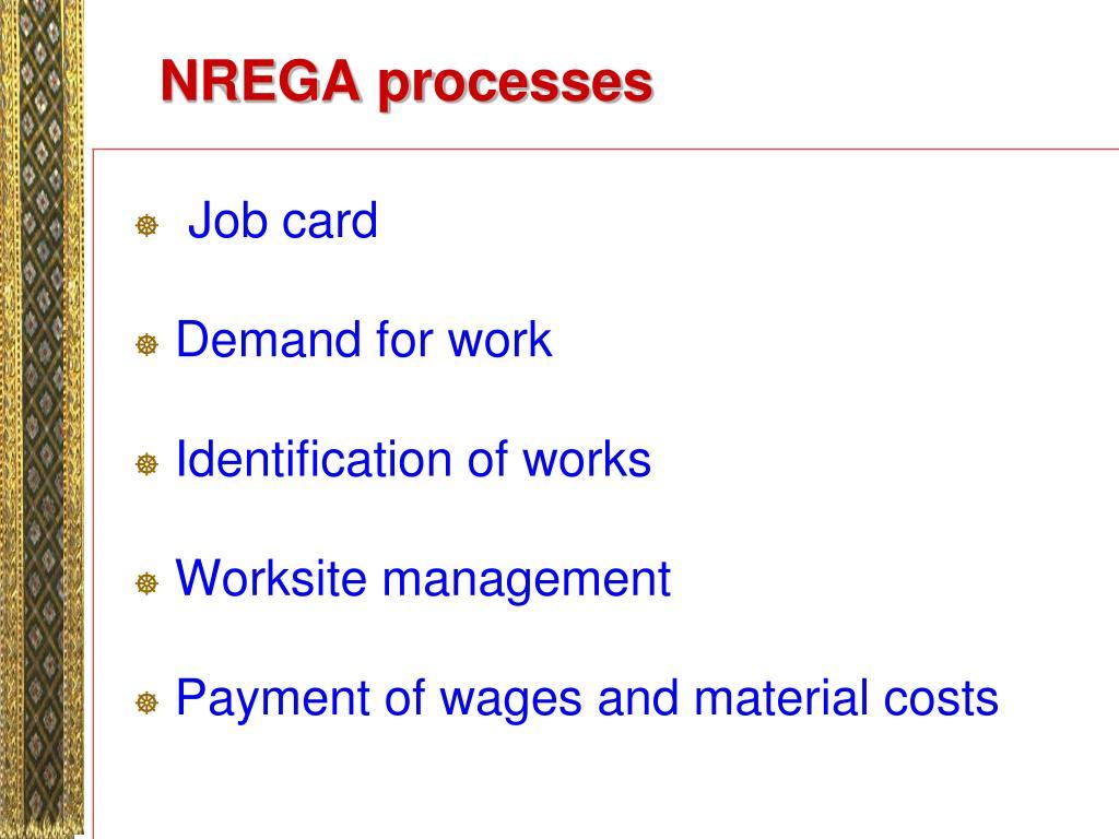 NREGA processes
