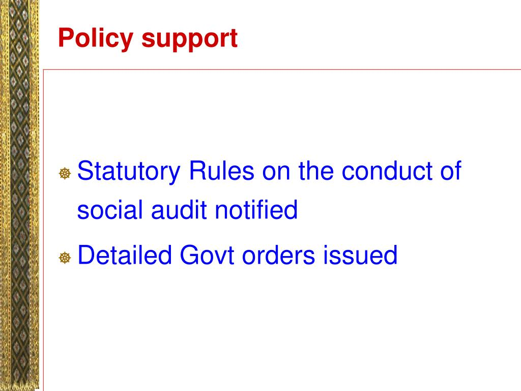 Policy support