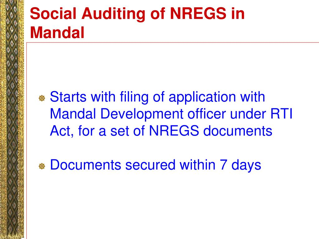 Social Auditing of NREGS in Mandal