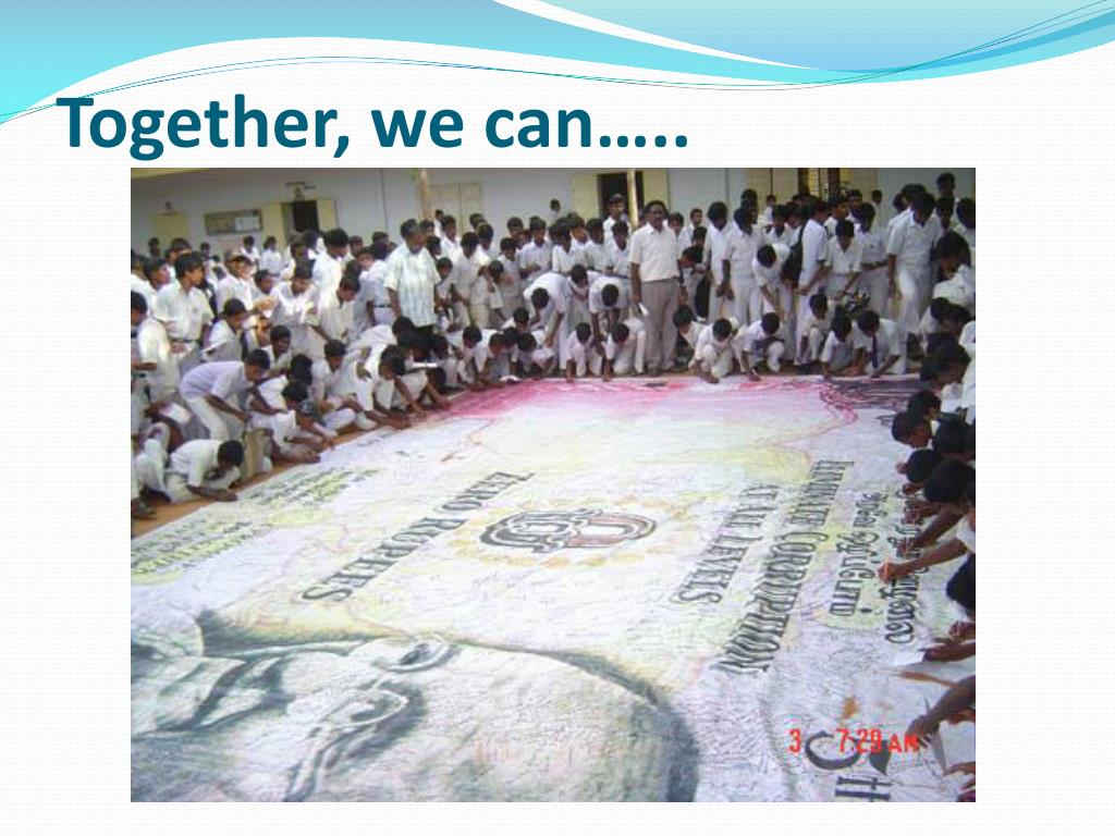 Together, we can…..