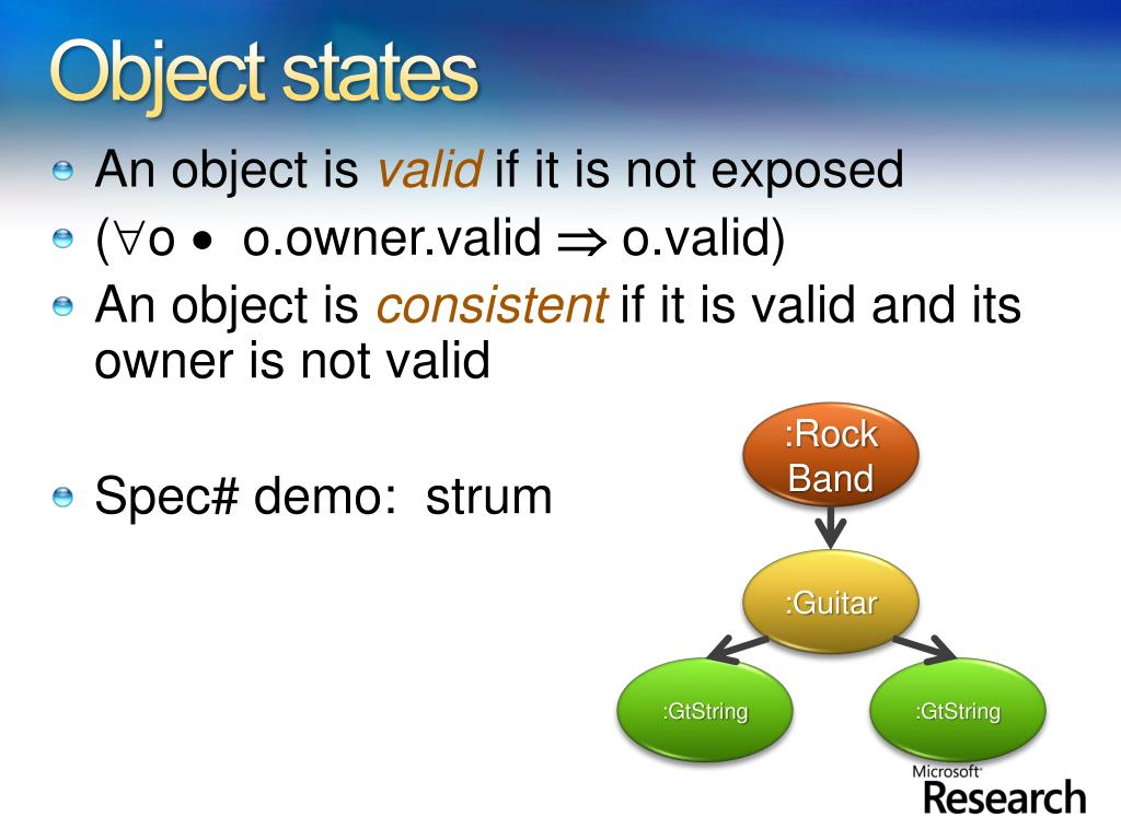 Object states