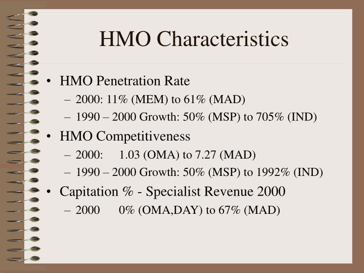 HMO Characteristics