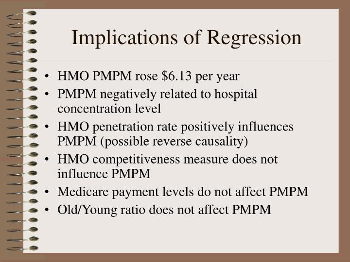 Implications of Regression