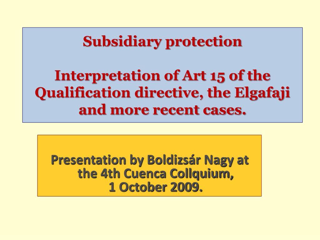 Subsidiary