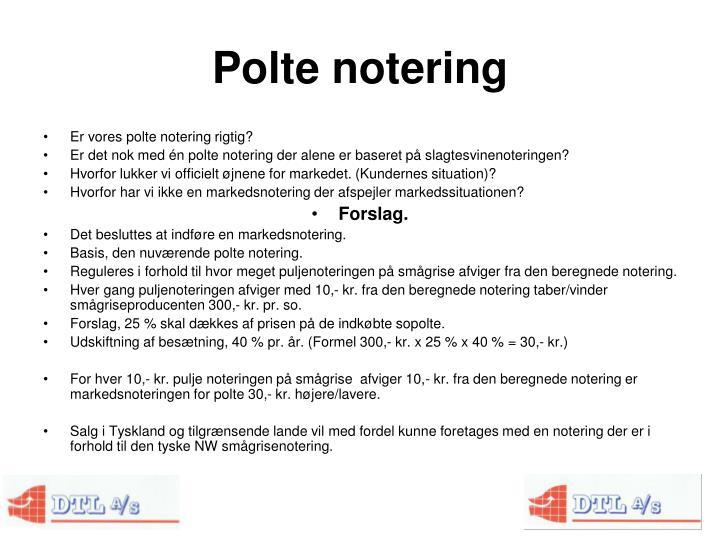 Polte notering