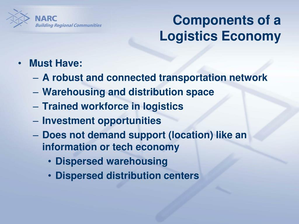 Components of a Logistics Economy