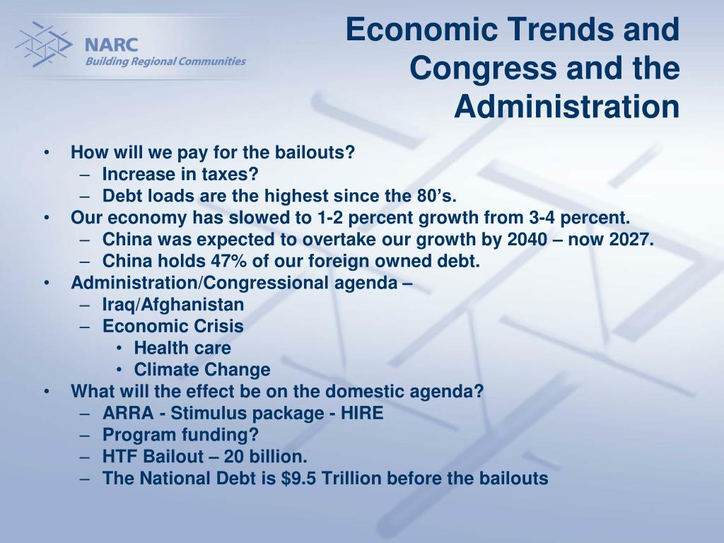 Economic Trends and Congress and the Administration