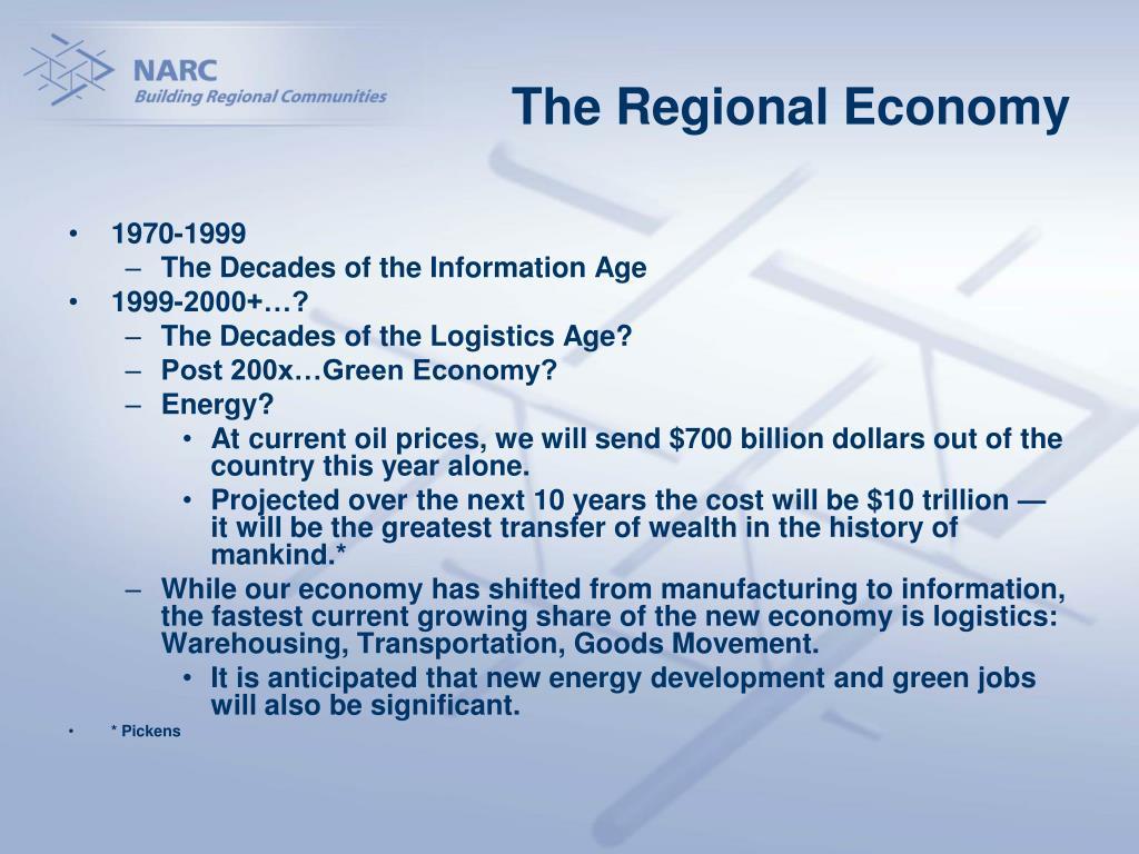 The Regional Economy