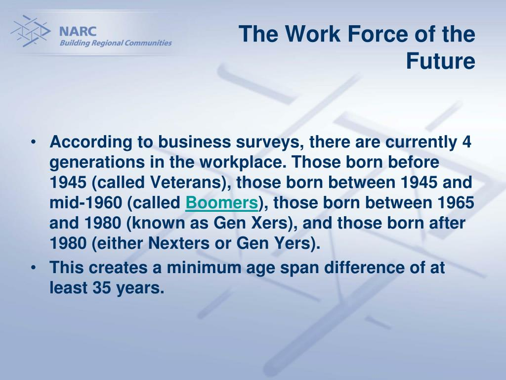 The Work Force of the Future