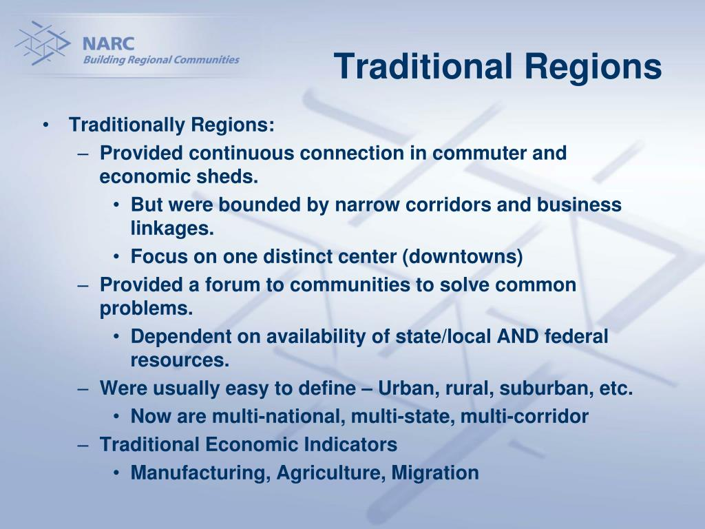 Traditional Regions