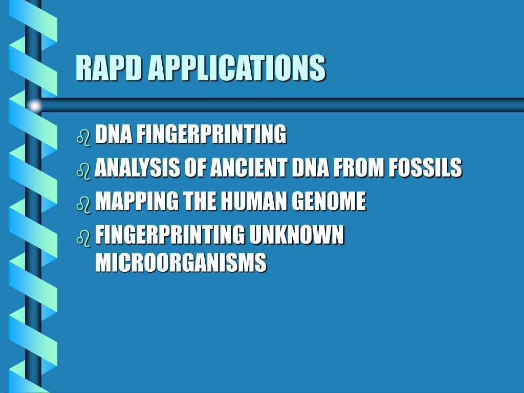 RAPD APPLICATIONS