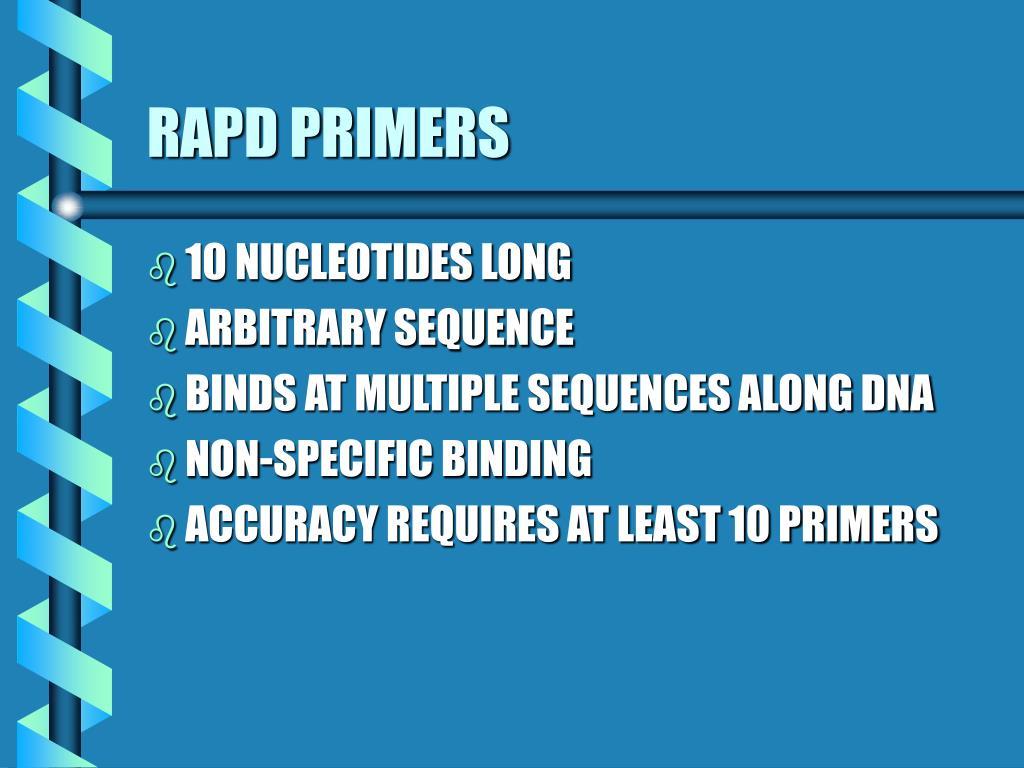 RAPD PRIMERS