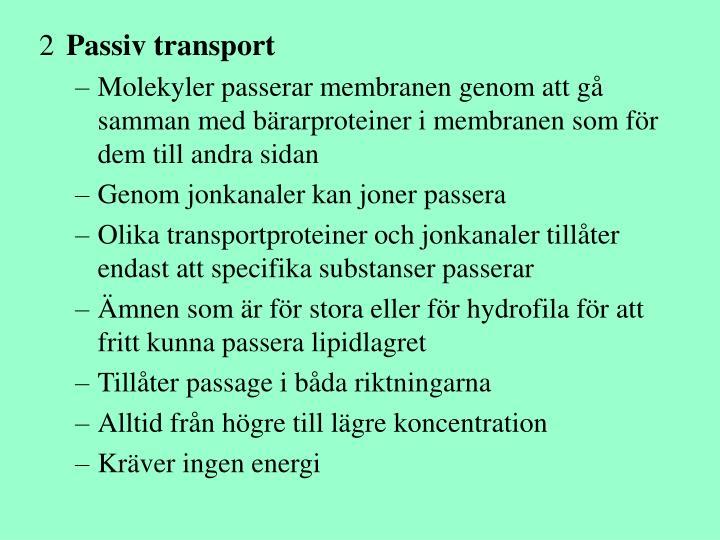 Passiv transport
