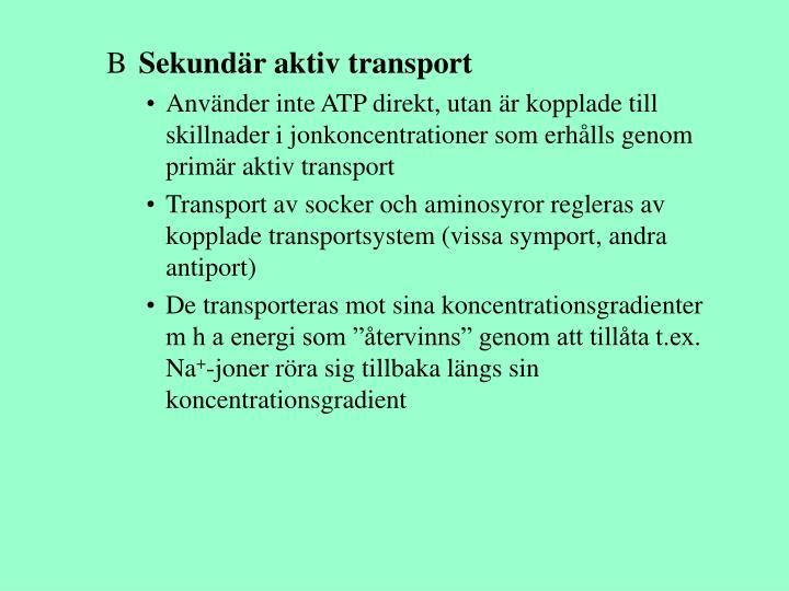 Sekundär aktiv transport