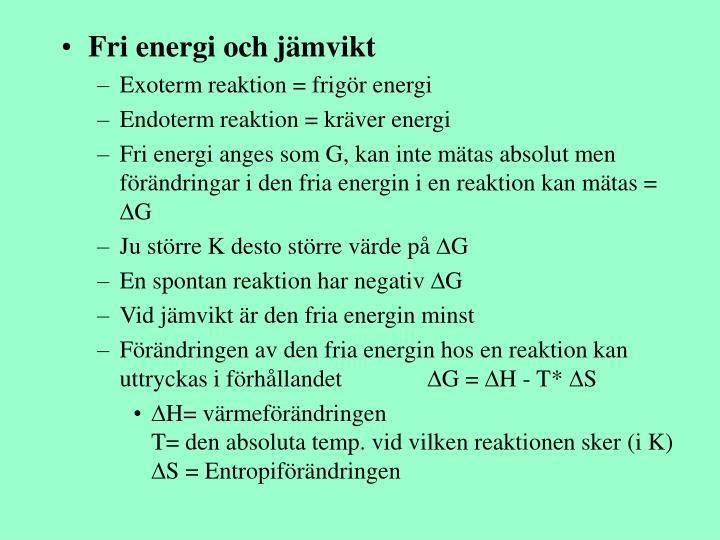 Fri energi och jämvikt