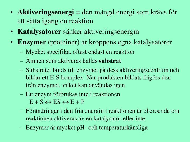 Aktiveringsenergi