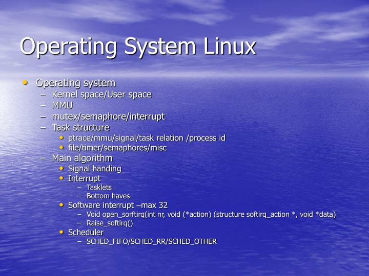Operating system linux