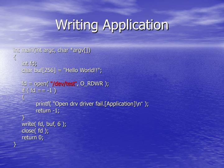 Writing Application