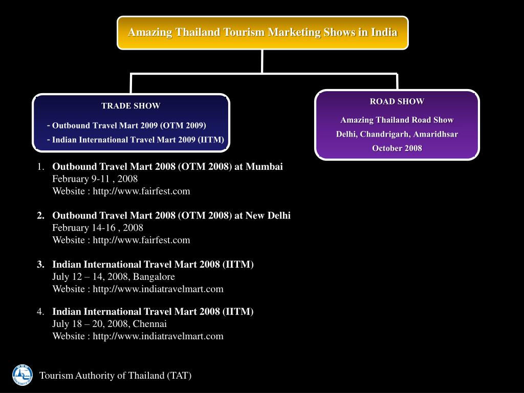 Amazing Thailand Tourism Marketing Shows in India