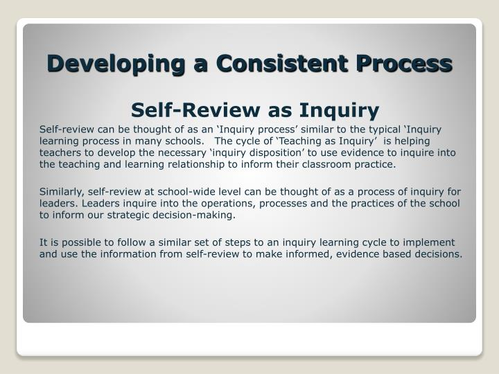 Self-Review as Inquiry